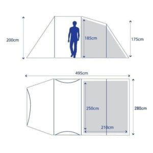 Berghaus Air 4 Floorplan
