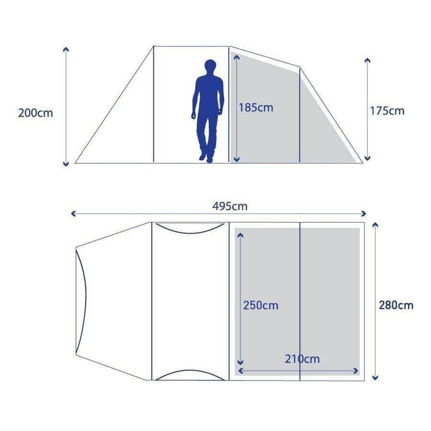 Berghaus Air 4 Floorplan