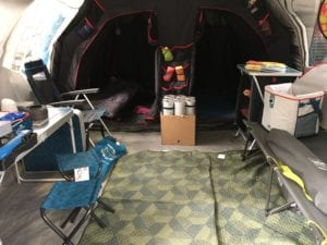 Fresh & Black - blackout bedrooms in a Quechua Air tent