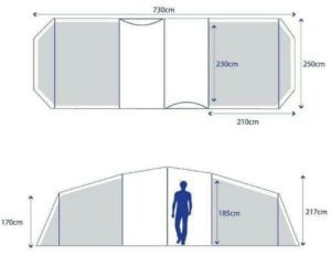 Berghaus Air 6 floorplan