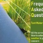 Tent materials, fabrics, specifications and all the acronyms. FAQ.