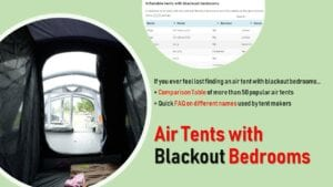 inflatable tents with blackout bedrooms
