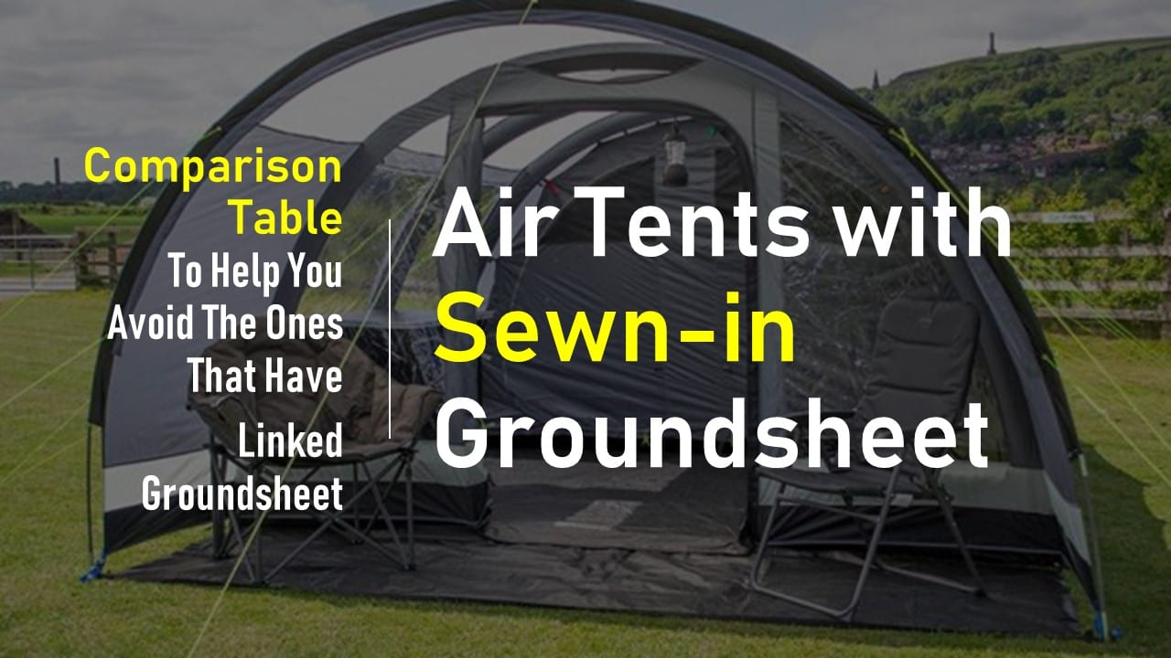 air tents with sewn in groundsheet