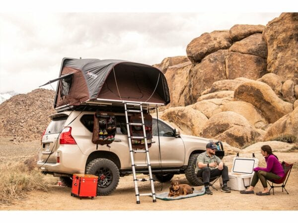 Eeerrr….iKamper Skycamp on a Land Cruiser in the desert...good luck