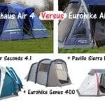 Eurohike Genus 400 Air vs Berghaus Air 4 vs Eurohike Air 400
