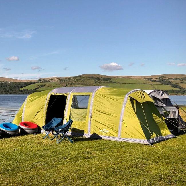 Vango Longleat II Air 800XL - 8-person family air tent review Vango Eurohike Berghaus Quechua